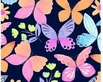 Painted wings - butterfly fabric