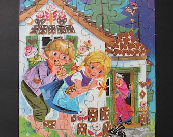 Hansel & Gretel Jigsaw Puzzle in Storage Box by Piatnik Made in Austria