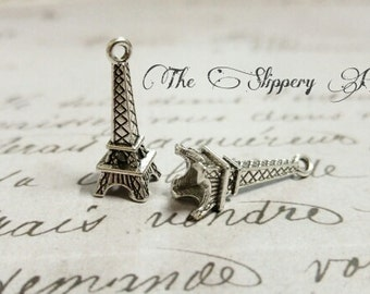 Eiffel Tower Charms Paris Charms Silver Eiffel Tower France Charms Travel Charms Europe Charms Silver Charms Wholesale Charms 10 pieces