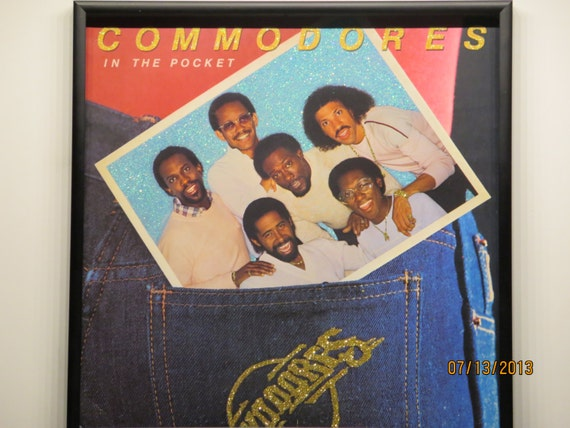 Glittered Record Album - Commodores - In The Pocket