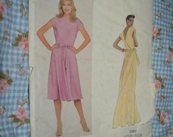 Vogue 2362 Albert Nipon  Misses Dress and Belt Sewing Pattern - UNCUT -  Size 10