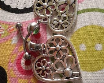 Spring themed navel ring