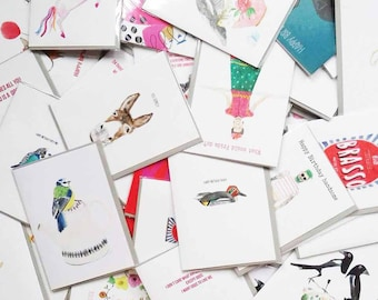 Five greetings cards of your choice for the price of 4!