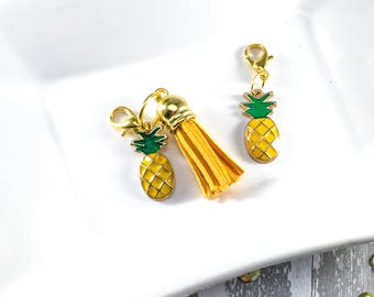 Planner charm - pineapple | Planner accessory, tn planner charm, travelers notebook charm, pineapple charm, fruit charm, summer charm