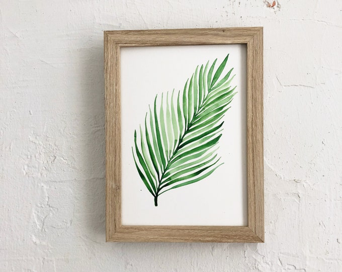 Featured listing image: Watercolor Fern | 5x 7 original watercolor painting | Not a print | READY TO SHIP