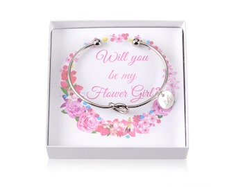 Flower Girl Proposal, Will You Be My Flower Girl, Flower Girl Gift, Flower Girl Bracelet, Ask Flower Girl, Personalized Flower Girl Box Gift