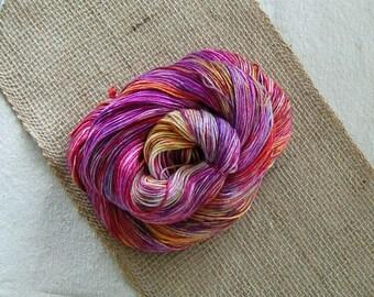 Shiny Happy-Forest-  3.5 oz (100 grams) 435 yards of 50/50 superwash merino and silk blend yarn