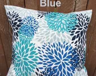 PREMIER PRINTS Blooms Blue Pillow Cover- - Envelope Closure
