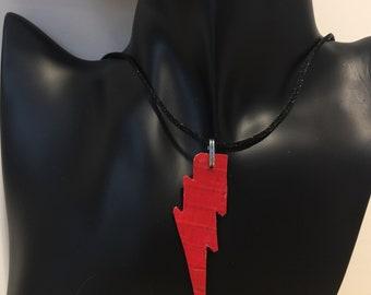 Red Lightning Bolt Necklace