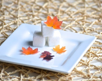 Wedding Cake Topper Itsy Bitsy Mini Edible Fall Leaves - Set of 48 Food Decorations Cupcake Toppers, Cake Decoration