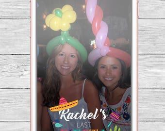 Fiesta Bachelorette Party Snapchat Geofilter, Sombrero Filter,