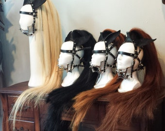 Pony Play Bridle with Genuine Horse Hair and bit