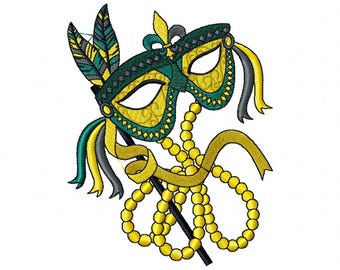 Feather Masquerade - Mardi Gras Collection #04 Machine Embroidery Design