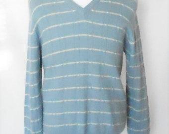 Vintage 1970s Christian Dior Monsieur Men's Wool Blend V Neck Pullover Sweater, Vintage Christian Dior, 1970s Christian Dior, Men's Vintage
