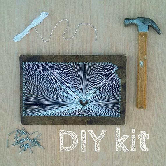 DIY Kansas String Art Kit, State string Art Kit, Kansas Nail Art ...