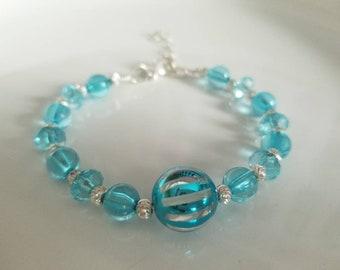 Blue bangle bracelet