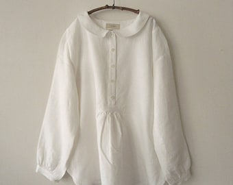 LINNET Pattern / No.64 Flat Collar blouse /Pattern