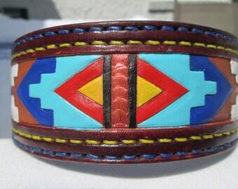 Border Collie dog collar, American tribal collar, large collars, Shar Pei collar, handmade leather collars, thick collars