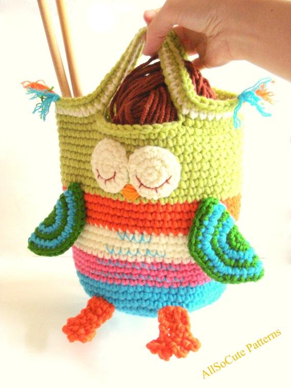 Crochet Bag Pattern Girls Purse Instant Download Pdf Crochet Owl