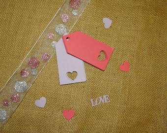 30 Heart Tags - Gift Tags, Favor Tags, Scrapbooking