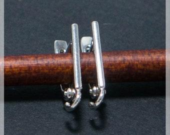 Sterling Silver Leverback, Ear hooks, Ear wire,  earrings components B04