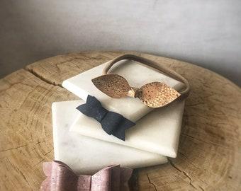 Cork Baby Bow Bundle (vegan friendly, eco friendly, leather alternative)