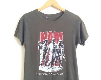 70's Tee Shirt.......70's Vietnam War Era Turtle/Helmet Tee 1XPw8Xk1i