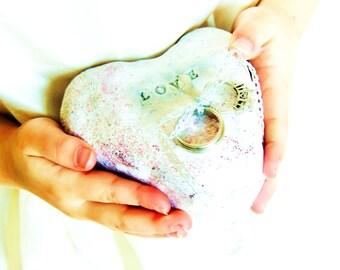 RING PILLOW WEDDING Ring Holder Ring Bearer Pillow Alternative Heart Dish Bowl Box Ringbearer