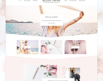 SALE Blush - Feminine WordPress Theme. Genesis Child Theme. Shop Theme. WooCommerce. Portfolio Theme. Photography. Responsive Design