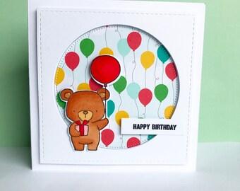 Beary Balloons Birthday Card