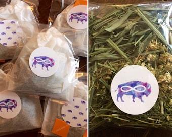 Organic Chamomile Flowers and Lemon Grass Tea // Herbal Tea // Calming Tea // Native Tisane Stocking Stuffers