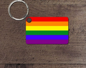 LGBT pride flag key chain
