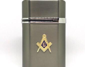 Mason Desktop Lighter – Gold Cut-Out