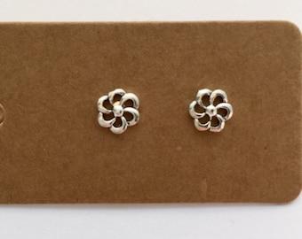 Sterling Silver Daisy Stud Earrings | Sterling Silver, Daisy, Silver Earrings, Stud Earrings, Flower, Earrings, Studs, Boho, Silver