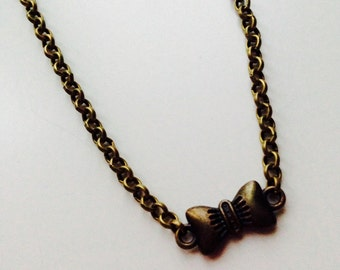 Sale | Bow | Bow Tie | Hipster | Cute | Necklace