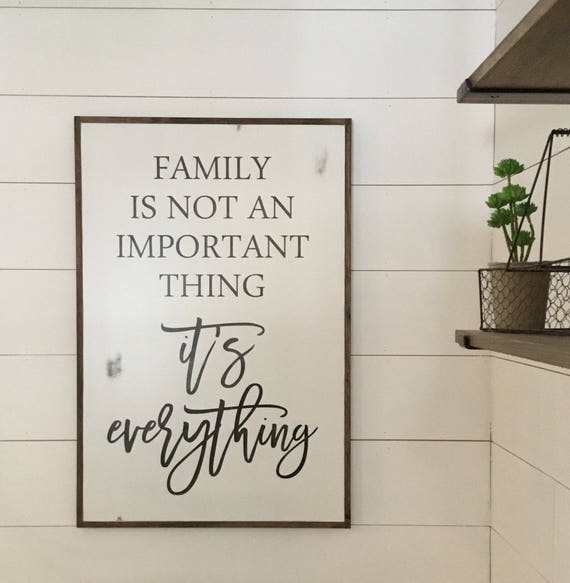 FAMILY IS EVERYTHING 2X3 | distressed shabby chic painted wooden sign | wall decor | painted farmhouse playroom wall art | farmhouse decor