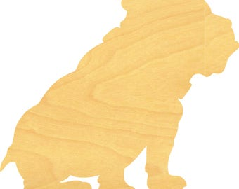 Bulldog Sign Wood Cutouts - Large Sizes up to 35 Inches - for Projects or Other Use