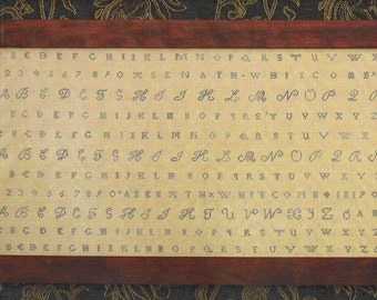 Asenath Whitcomb 1819 Reproduction Shaker Sampler by Carriage House Samplings Counted Cross Stitch Pattern/Chart