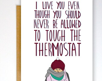 Funny Valentines Card, Funny Greeting Card, Funny Love Card, Husband Card, Anniversary Card, Funny Card, I Love You Card, Valentine Card
