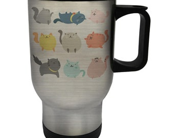 Cute Cats Cat Lovers Stainless S Travel 14oz Mug b247t