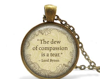 Poetry Necklace Friendship Gift Lord Byron Quote Necklace Literary Jewelry Byron Quote Keychain Literary Book Lover Gift Liberarian gift