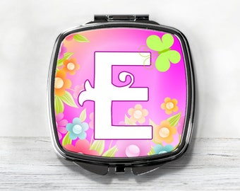 Personalized Compact Mirror - Colorful Compact - Gift For Her