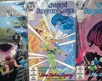 Advanced dungeons and dragons comics issues 11,17,18//vf condition//1989