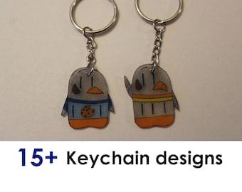 Penguin Comics Keychains