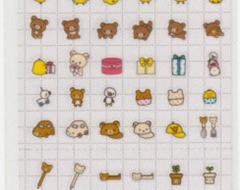 Rilakkuma Stickers - Rilakkuma Schedule Stickers - Reference A4924A4990-91A5706-07A6066-67