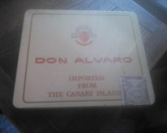 Don Alvaro Tin Cigar Box