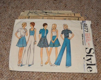 Style 4677 - 1970s Outfit Pattern - SIZE 15/16