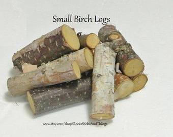 Mini Birch Logs, birch, Rustic Decor