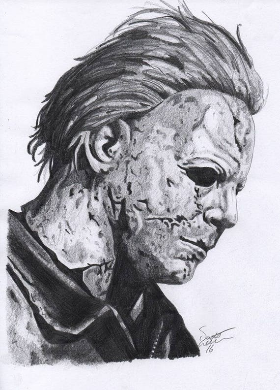 Michael Myers A4 Drawing Print
