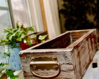 Rustic white custom planter
